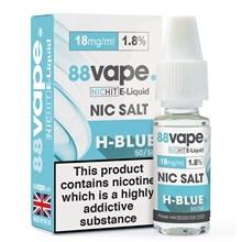 88 VAPE - 18MG NIC SALT HIT H-BLUE - 10ML