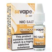 88 VAPE - 20MG NIC SALT HIT TOBACCO - 10ML