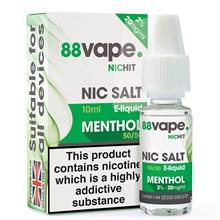 88 VAPE - 20MG NIC SALT HIT MENTHOL - 10ML