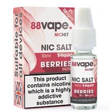 88 VAPE - 20MG NIC SALT HIT BERRIES - 10ML