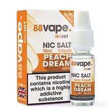 88 VAPE - 18MG NIC SALT HIT PEACH DREAM - 10ML