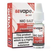 88 VAPE -18MG NIC SALT HIT SWEET STRAWBERRY - 10ML