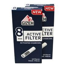 GIZEH - CARBON CERAMIC 8MM FILTER TIPS - 25 PACK