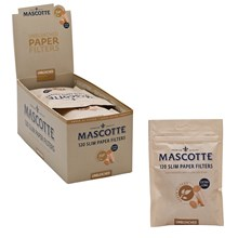 MASCOTTE-EXTRA LONG UNBLEACHED FILTER TIPS-10 PACK