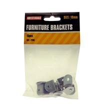 19MM FURNITURE BRACKETS 15PCS