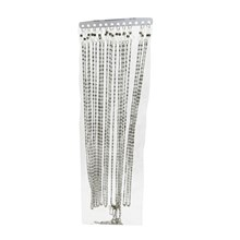 12PC ALUMINIUM GLASSES CORD (SILVER) SWL