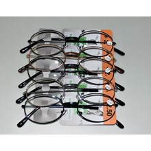 METAL READING GLASSES -  ROSE GOLD (MIXED STRENGTH