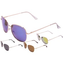 ADULT SUNGLASSES METAL FRAME 4ASSTD