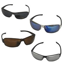MENS METAL FRAME PLASTIC ARM SUNGLASSES - 4ASST