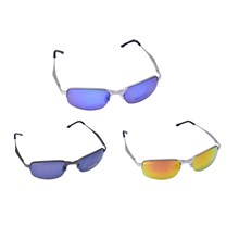ADULT METAL 1/2 FRAME SUNGLASSES - 5ASST