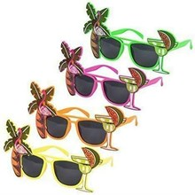 NOVELTY SUNGLASSES - FLAMINGO - 4ASST