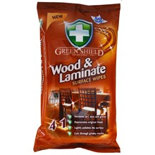 GREEN SHIELD - WOOD & LAMINATE WIPES - 70 WIPES