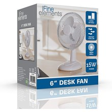 "FINE ELEMENTS -  6"" DESK FAN"