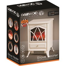 SMALL STOVE EFFECT HEATER BODY WHITE