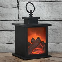 LYYT LED FLAME EFFECT FIREPLACE - LANTERN