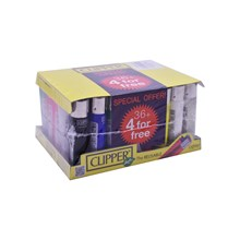 CLIPPER LIGHTER - SOLID COLOURS - 40 PACK
