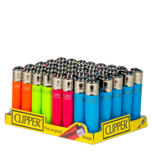CLIPPER CLASSIC FLINT - FLUORESCENT - 40 PACK
