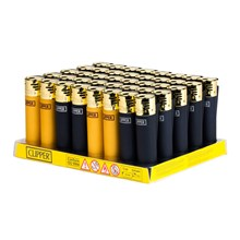 CLIPPER CLASSIC ELECTRONIC - BLACK & GOLD - 40 PK