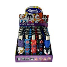 ATOMIC JET FLAME LIGHTER RUBBER PETS (25)