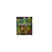 4SMOKE LIGHTERS - POPPY - 4 PACK