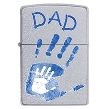 ZIPPO FATHER'S DAY DAD HANDPRINT