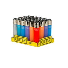 CLIPPER LIGHTERS - TRANSULSCENT COLOUR - 24 PACK