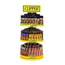 CLIPPER CAROUSEL DISPLAY 144 +12 LIGHTERS
