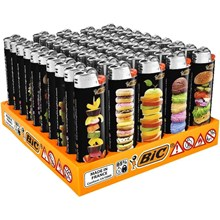 BIC MAXI LIGHTERS - HUNGRY - 50 PACK