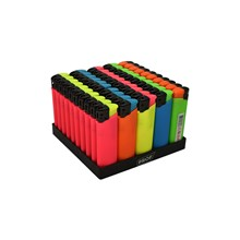 PROF COLOURFUL RUBBER ELECTRONIC LIGHTER - 50 PACK