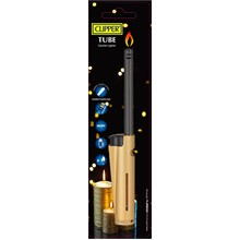 CLIPPER TUBE CANDLE LIGHTER - METALLIC