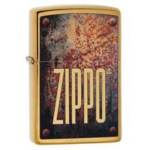 ZIPPO - BRUSHED BRASS RUSTY PLATE