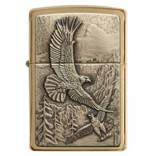 ZIPPO - BRUSHED BRASS EAGLES
