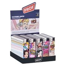 PROF - CRAZY POP ART ELECTRONIC LIGHTER - 50 PACK