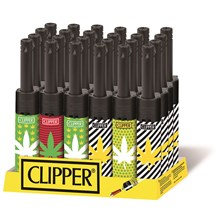 CLIPPER MINI TUBE LIGHTER - LEAVES 4 - 24 PACK