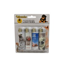 4SMOKE LIGHTERS - PUPPY SLOGAN - 4 PACK