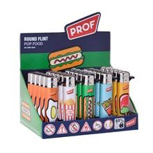 PROF - ROUND FLINT LIGHTER - POP FOOD - 25PACK