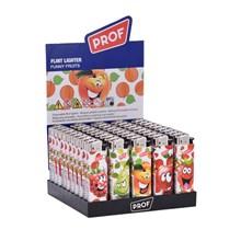 PROF - FUNNY FRUITS FLINT LIGHTER - 50 PACK