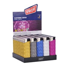 PROF ELECTRONIC LIGHTER - SHINY DISCO - 50 PACK