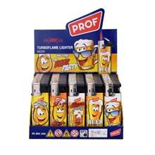 PROF SLIDECAP TURBO LIGHTER - BEER - 50 PACK