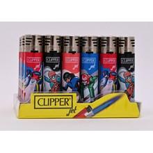 CLIPPER REFILLABLE JET LIGHTER - SNOW SPORT - 24PK