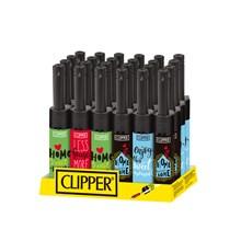 CLIPPER MINI TUBE LIGHTER - SWEET HOME - 24 PACK