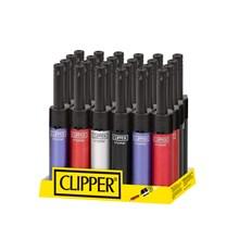 CLIPPER MINI TUBE LIGHTER - CRYSTAL - 24 PACK