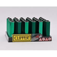 CLIPPER MICRO W/ METAL COVER - GREEN - 30 PACK