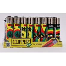 CLIPPER CLASSIC FLINT - RASTAFARI WEED - 40 PACK