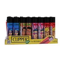 CLIPPER CLASSIC FLINT - POP ART FACES - 40 PACK