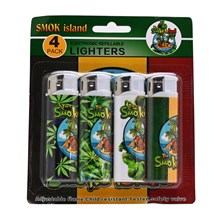 4SMOKE LIGHTERS - SMOKE ISLAND - 4 PACK