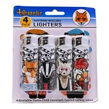 4SMOKE LIGHTERS - COOL DOG - 4 PACK