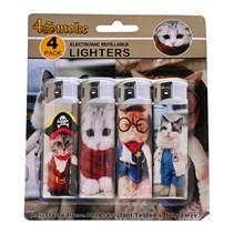 4SMOKE LIGHTERS - LOVELY CAT - 4 PACK