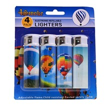 4SMOKE LIGHTERS - AIR BALLOON - 4 PACK