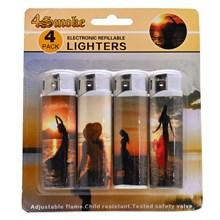 4SMOKE LIGHTERS - SUNSET - 4 PACK